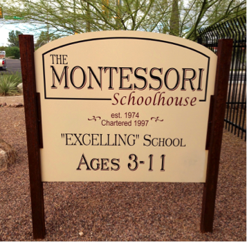 montessorischoolhousesign